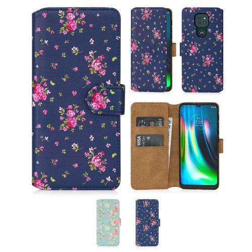 Motorola Moto G9 & G9 Play 'Floral Series 2.0' PU Leather Design Book Wallet Case