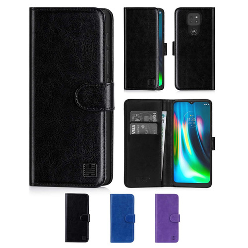 Motorola Moto G9 & G9 Play 'Book Series' PU Leather Wallet Case Cover