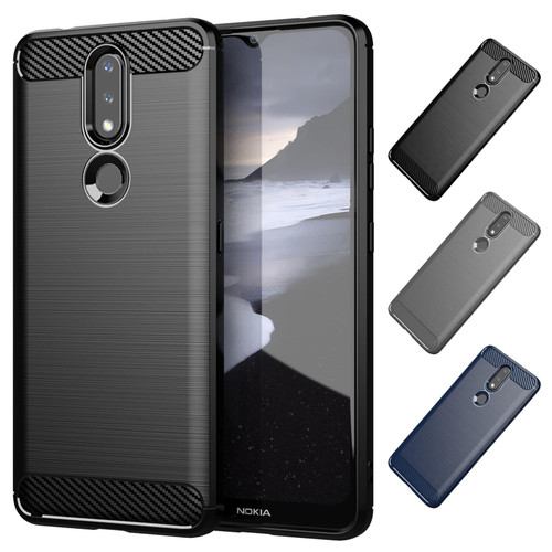 Nokia 2.4 'Carbon Series' Slim Case Cover