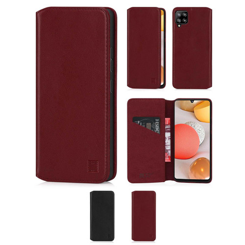 Samsung Galaxy A42 5G (2020) 'Classic Series 2.0' Real Leather Book Wallet Case