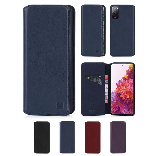 Samsung Galaxy S20 FE 5G (Fan Edition) 'Classic Series 2.0' Real Leather Book Wallet Case
