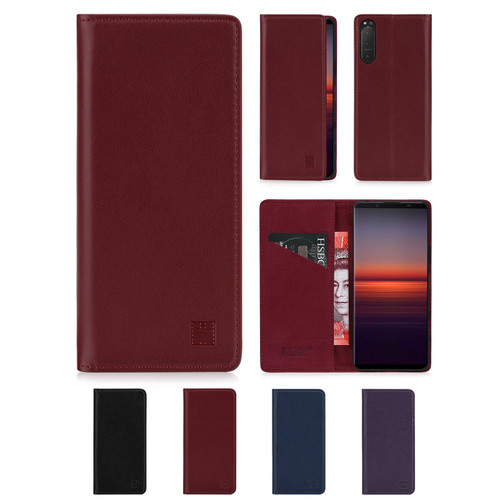Sony Xperia 5 II (2020) 'Classic Series 2.0' Real Leather Book Wallet Case