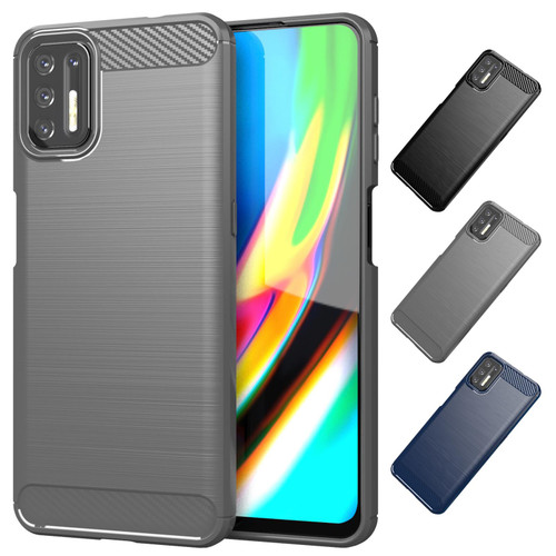 Motorola Moto G9 Plus 'Carbon Series' Slim Case Cover