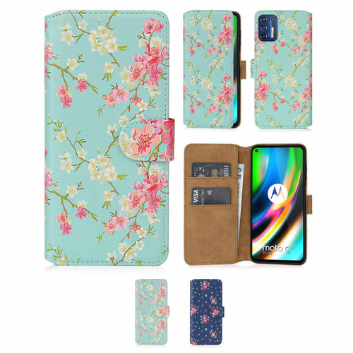 Motorola Moto G9 Plus 'Floral Series 2.0' PU Leather Design Book Wallet Case