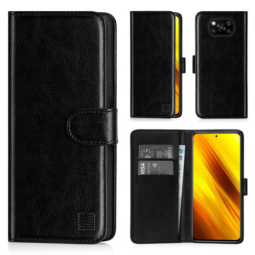 Xiaomi Poco X3 NFC 'Book Series' PU Leather Wallet Case Cover