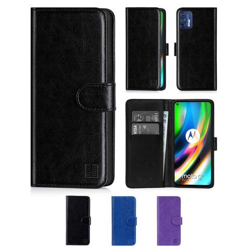 Motorola Moto G9 Plus 'Book Series' PU Leather Wallet Case Cover