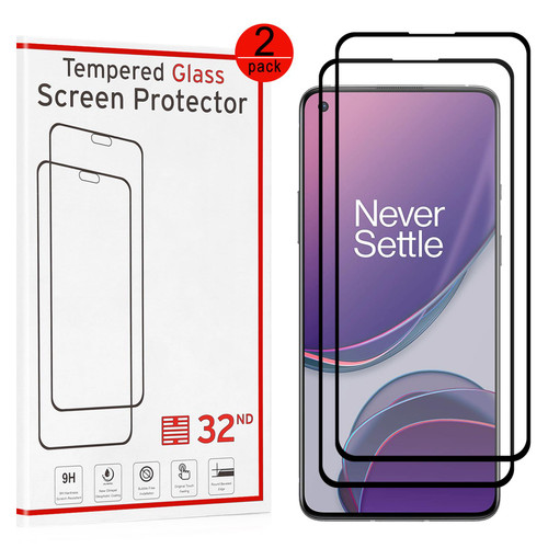 OnePlus 8T Tempered Glass Screen Protector - 2 Pack