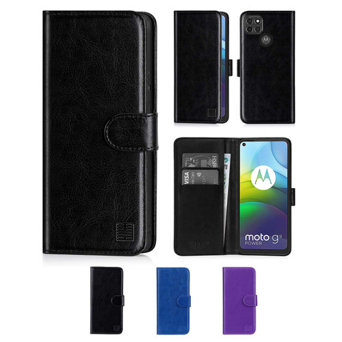 Motorola Moto G9 Power 'Book Series' PU Leather Wallet Case Cover