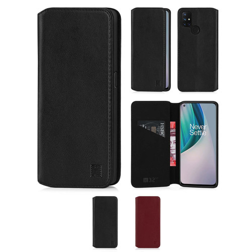 OnePlus Nord N10 5G 'Classic Series 2.0' Real Leather Book Wallet Case