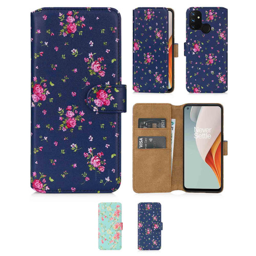 OnePlus Nord N100 'Floral Series 2.0' PU Leather Design Book Wallet Case