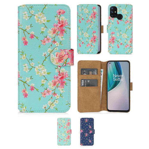 OnePlus Nord N10 5G 'Floral Series 2.0' PU Leather Design Book Wallet Case