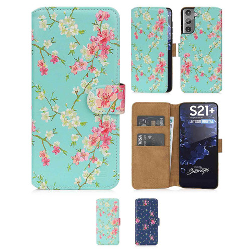 Samsung Galaxy S21 Plus 'Floral Series 2.0' PU Leather Design Book Wallet Case