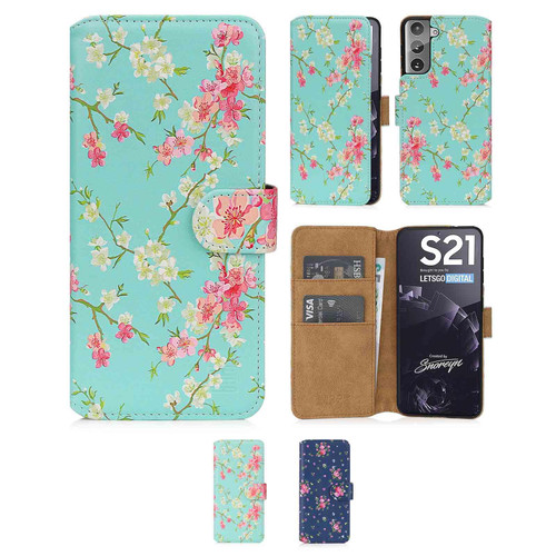 Samsung Galaxy S21 'Floral Series 2.0' PU Leather Design Book Wallet Case