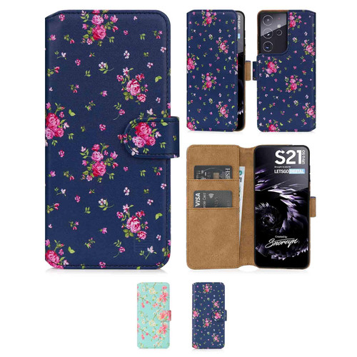 Samsung Galaxy S21 Ultra 'Floral Series 2.0' PU Leather Design Book Wallet Case