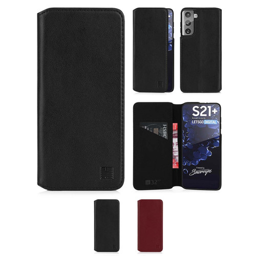 Samsung Galaxy S21 Plus 'Classic Series 2.0' Real Leather Book Wallet Case