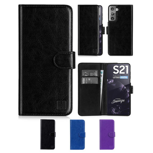 Samsung Galaxy S21 'Book Series' PU Leather Wallet Case Cover