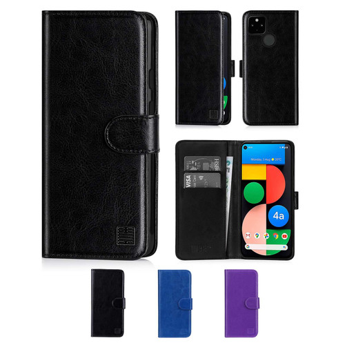 Google Pixel 4A 5G 'Book Series' PU Leather Wallet Case Cover