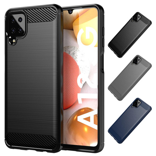 Samsung Galaxy A12 (2021) 'Carbon Series' Slim Case Cover