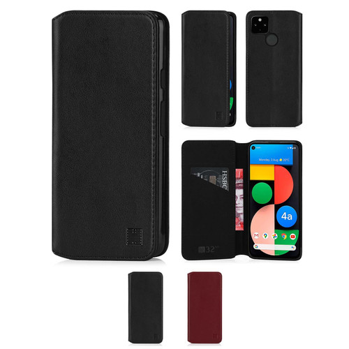 Google Pixel 4A 5G 'Classic Series 2.0' Real Leather Book Wallet Case