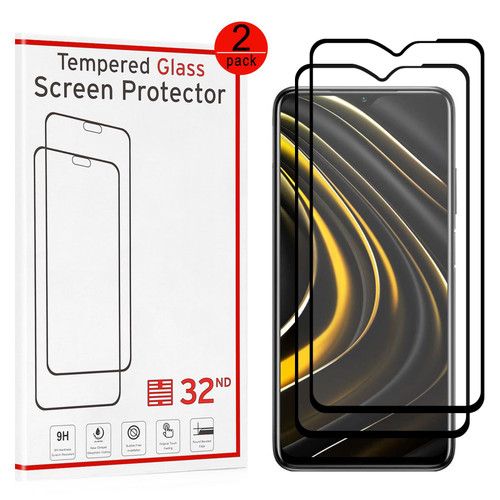 Xiaomi Poco M3 Tempered Glass Screen Protector - 2 Pack