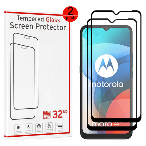 Motorola Moto E7 Tempered Glass Screen Protector - 2 Pack