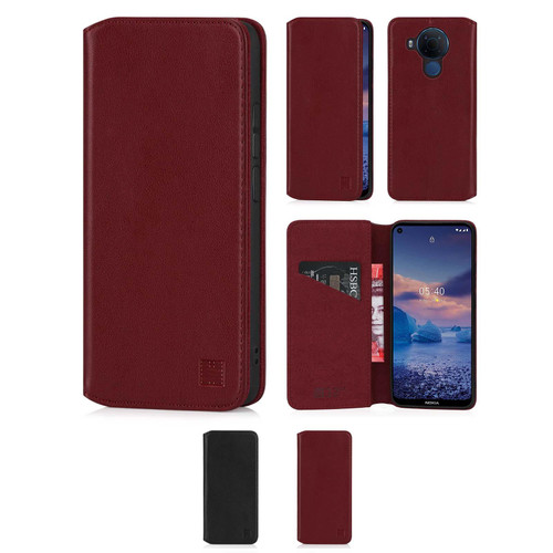 Nokia 5.4 'Classic Series 2.0' Real Leather Book Wallet Case