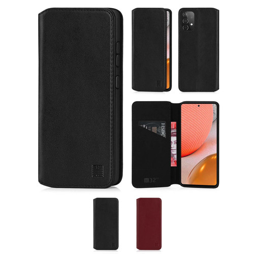 Samsung Galaxy A72 5G (2021) 'Classic Series 2.0' Real Leather Book Wallet Case