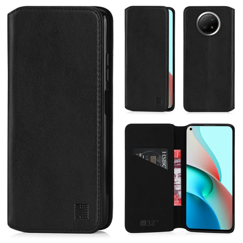 Xiaomi Redmi Note 9 5G / Redmi Note 9T 'Classic Series 2.0' Real Leather Book Wallet Case