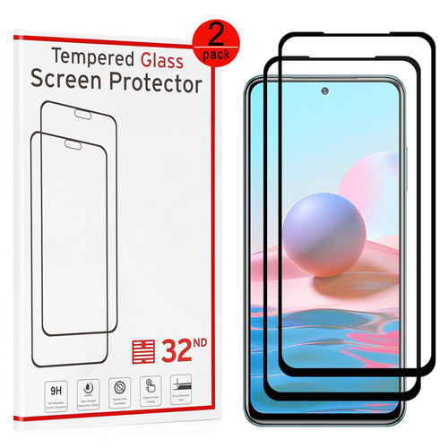 Xiaomi Redmi Note 10 Tempered Glass Screen Protector - 2 Pack