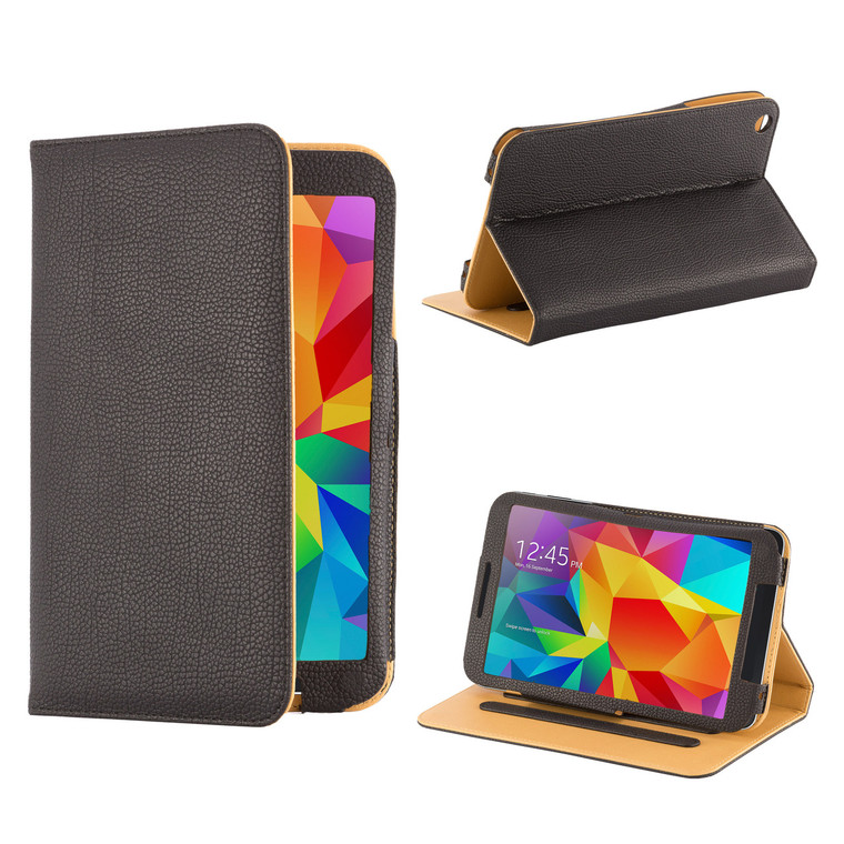 """Book PU Leather Case Cover for Samsung Galaxy Tab S 8.4"""" - Black"""