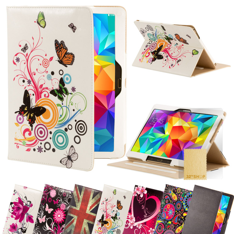 32nd faux leather design book stand Samsung Galaxy Tab S (10.5 inch) Case.