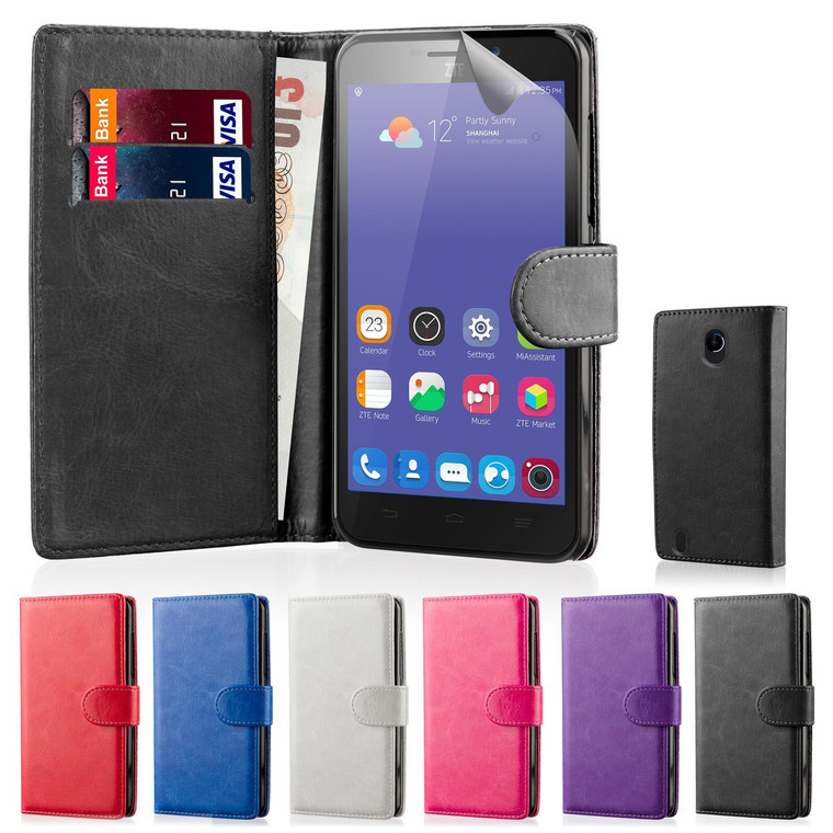 32nd synthetic leather book wallet ZTE Blade L3 Case in a range of colours.