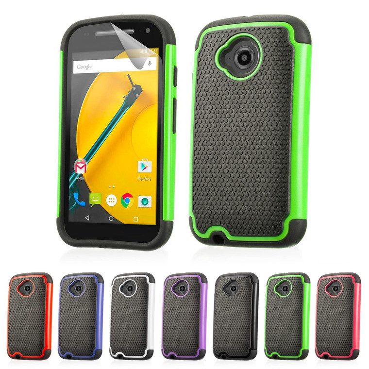 32nd dual-layer shockproof Motorola Moto E2 Case in a range of great colours.