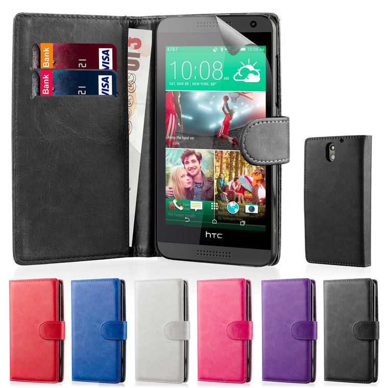 32nd faux leather book wallet HTC Desire 610 Case.