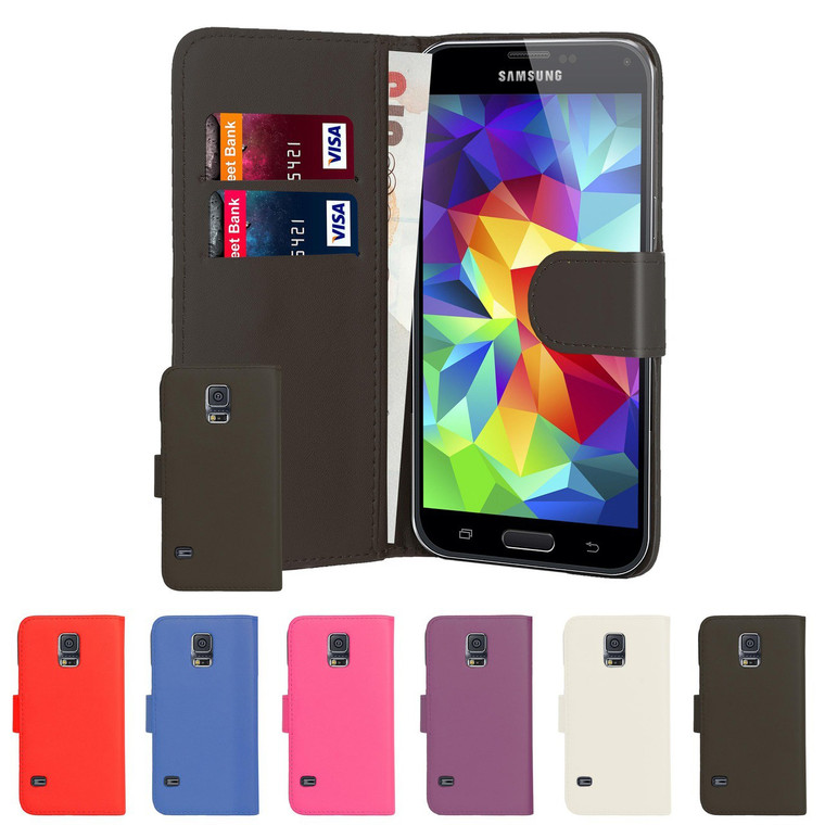 32nd faux leather book wallet Samsung Galaxy S5 Case.