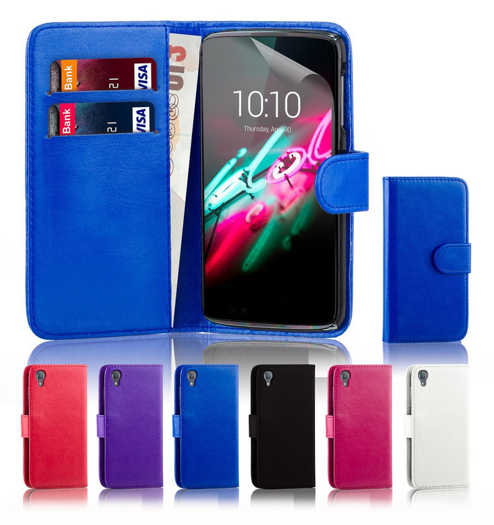 """32nd synthetic leather book wallet Alcatel Idol 3 5.5"""" Case."""