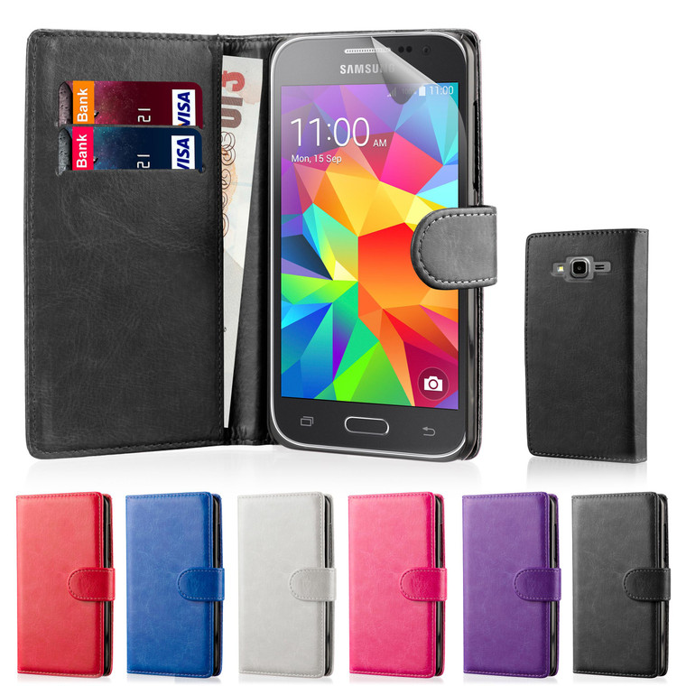 32nd synthetic leather book wallet Samsung Galaxy Core Prime Case.