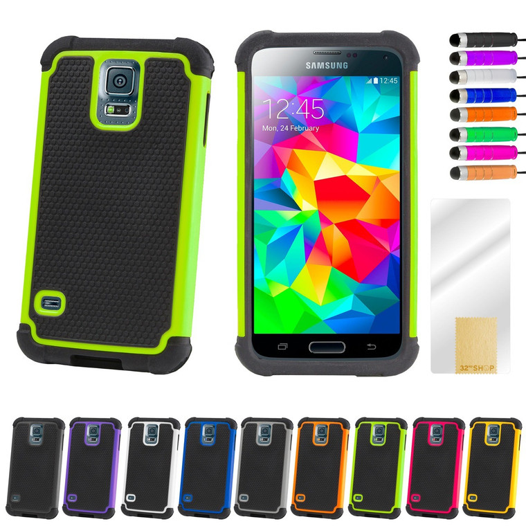 32nd dual-layer shockproof Samsung Galaxy S5 Case in a range of fantastic colours.