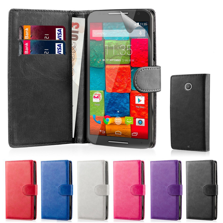 32nd synthetic leather book wallet Motorola Moto X Play Case.