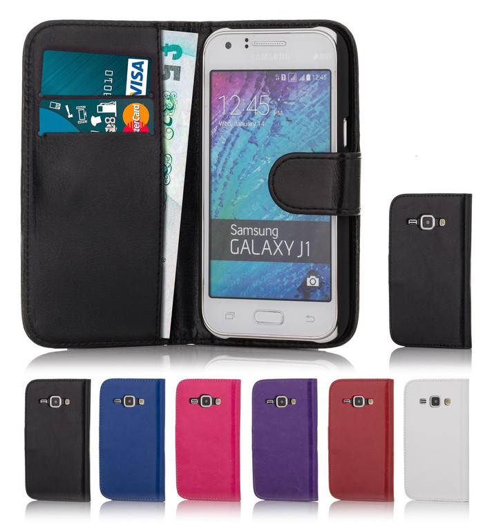 32nd Shop book wallet Samsung Galaxy J1 2015 Case includes screen protector and stylus.