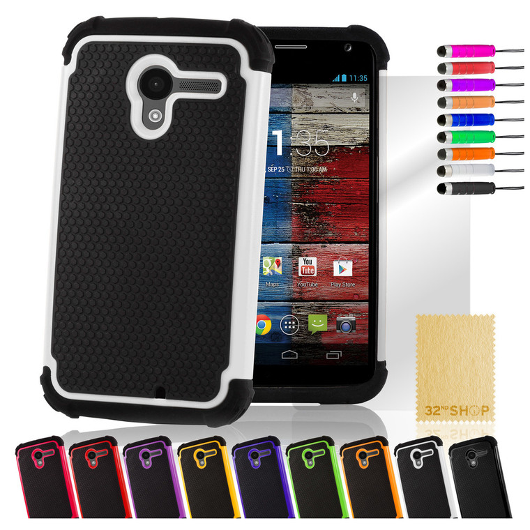 32nd dual-layer shockproof Motorola Moto X Style Case in a range of stylish colours.