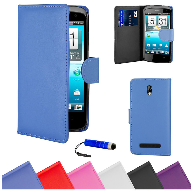 32nd faux leather book wallet HTC Desire 500 Case in a range of stylish colours.