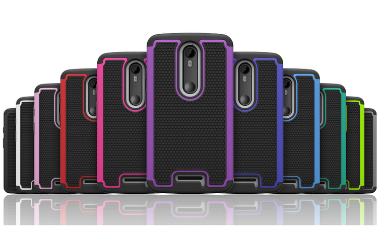 32nd dual-layer shockproof Motorola Moto X Force Case in a range of colours.