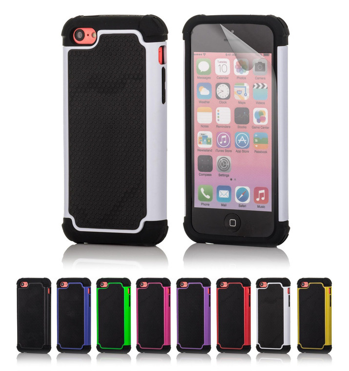 32nd dual-layer shockproof Apple iPhone 5C Case in a range of great colours.