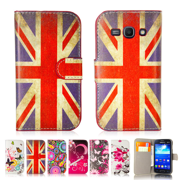 32nd attractive leather design book wallet Samsung Galaxy Ace 3 Case.