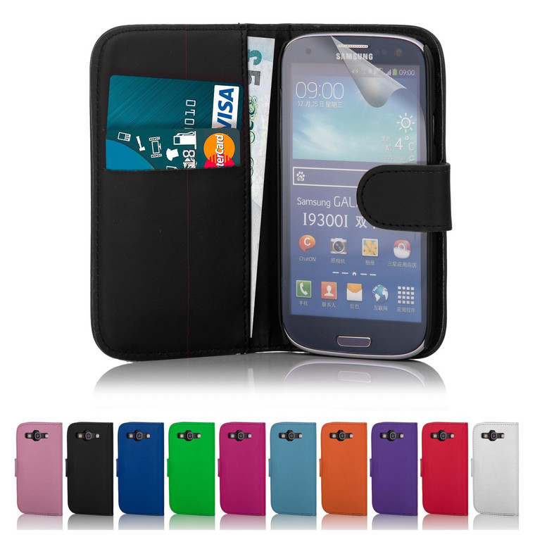 32nd synthetic leather book wallet Samsung Galaxy S3 Mini Case in a range of stylish colours.