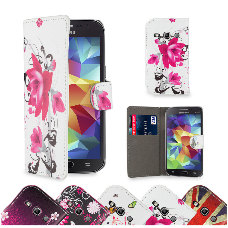 32nd colourful leather design book wallet Samsung Galaxy Fame Case.