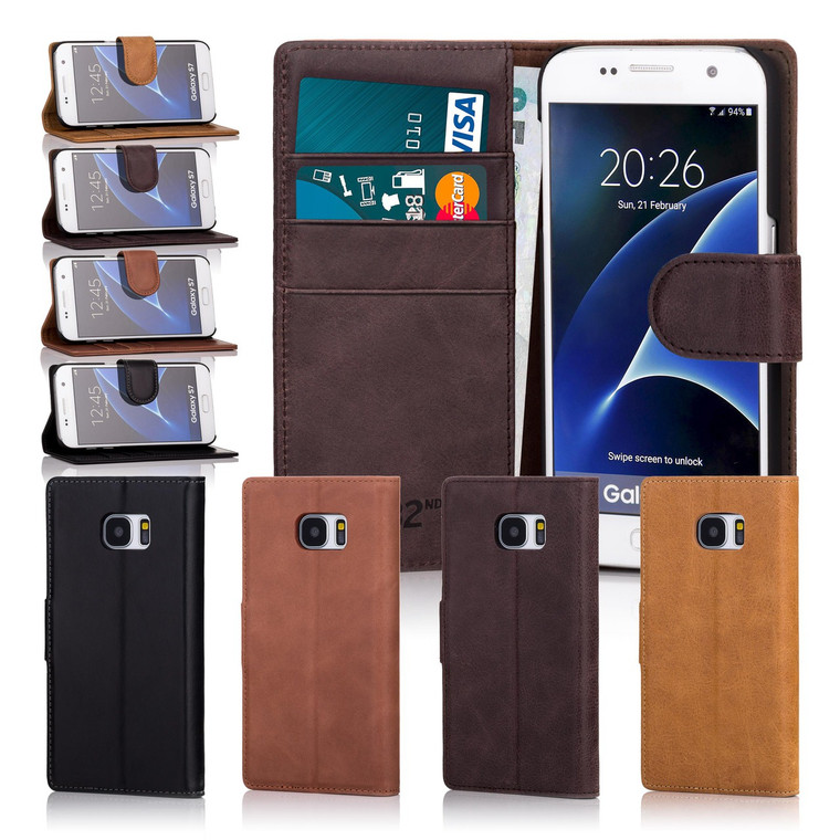 32nd premium leather book wallet Samsung Galaxy S7 Case.