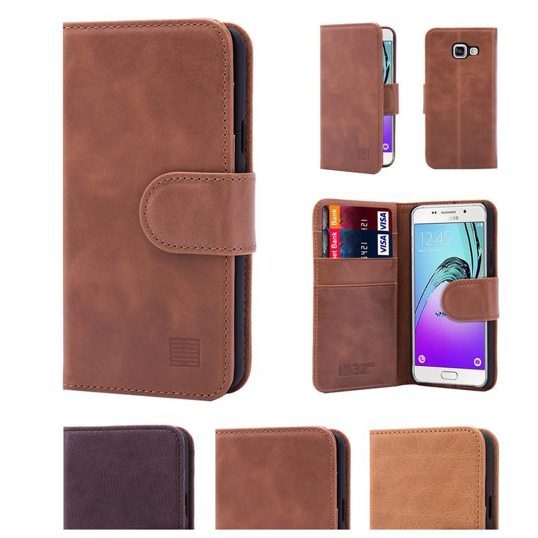32nd premium leather book wallet Samsung Galaxy A3 (2016) Case.