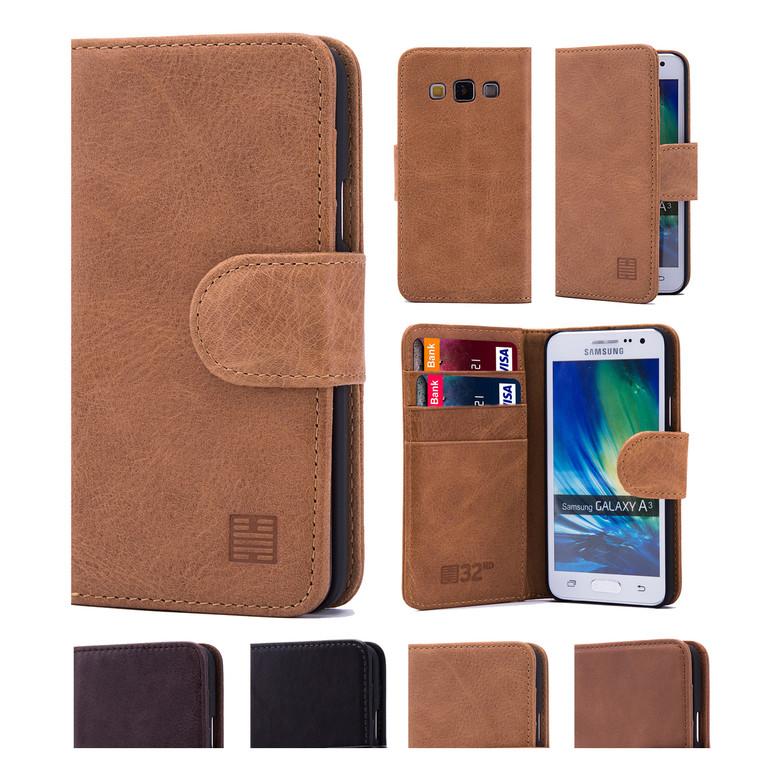 32nd premium leather book wallet Samsung Galaxy A5 (2016) Case.